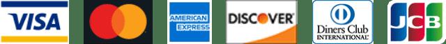 VISA,Mastercard,AMERICAN EXPRESS,Discover Card,Diners Club,JCB